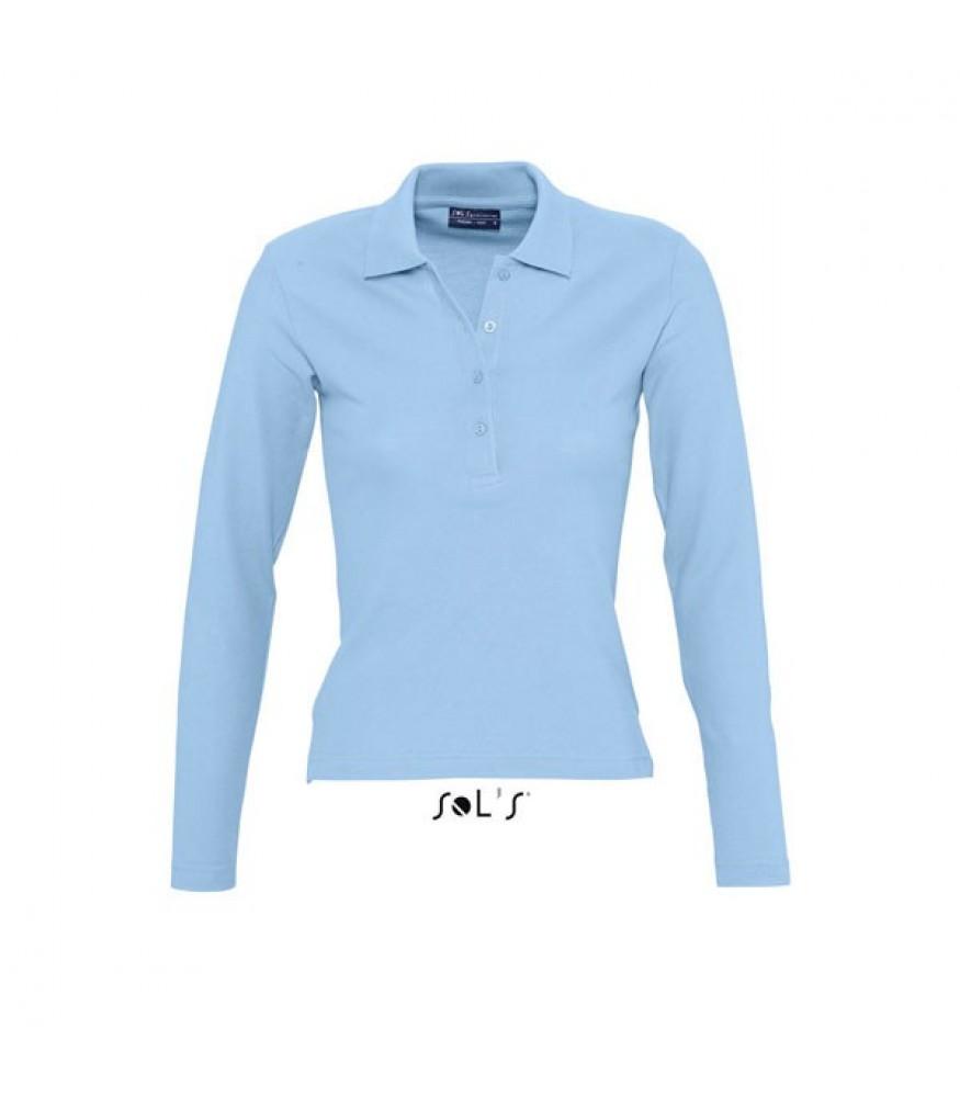Μακρυμάνικη Γυναικεία μπλούζα πόλο - PODIUM 20dfaf136d7