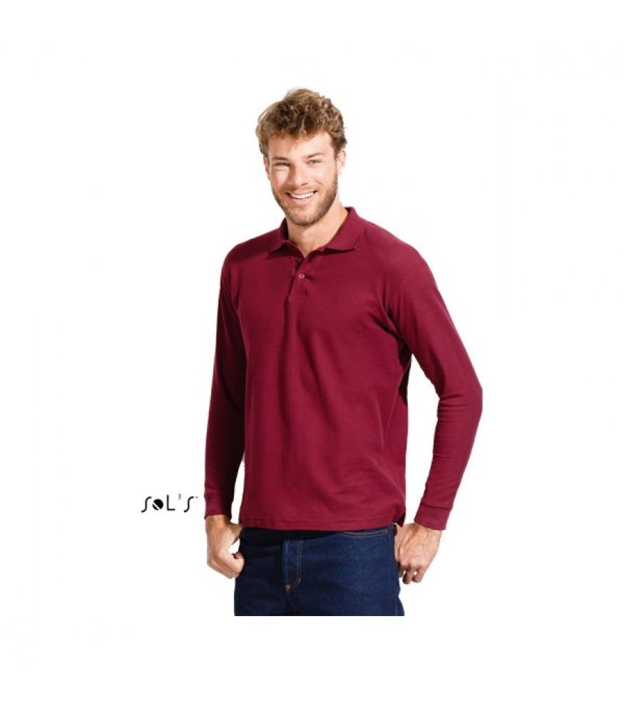46119a21d574 Μακρυμάνικη ανδρική μπλούζα πόλο από 10